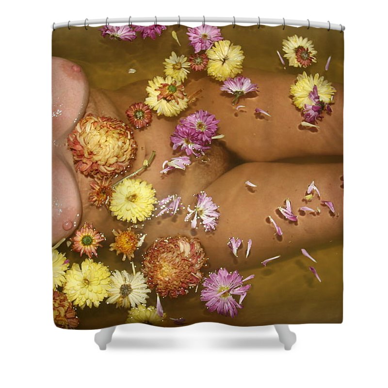 Lucky Cole Everglades Photographer Female Nude Everglades Shower Curtain featuring the photograph Flowers by Lucky Cole