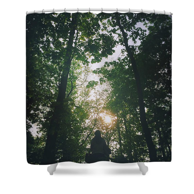 Forest Shower Curtain featuring the photograph Forest by Alisa Suleymanova