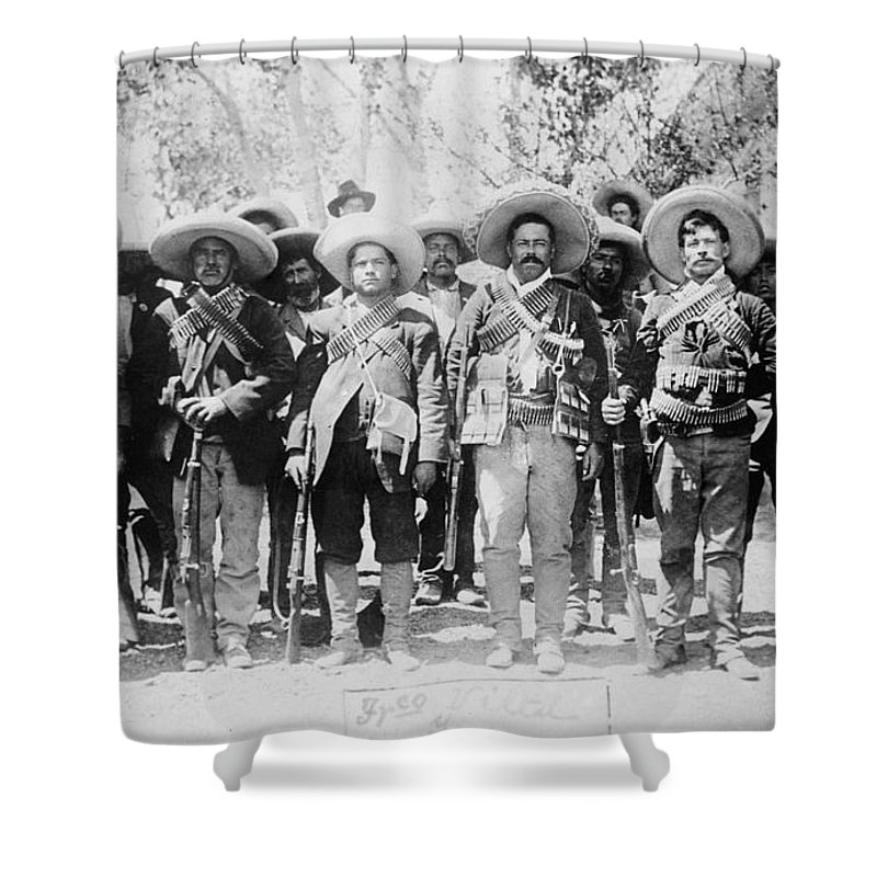 1913 Shower Curtain featuring the photograph Francisco Pancho Villa by Granger