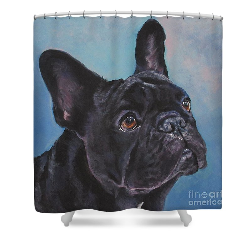Frenchie Shower Curtain Featuring The Painting French Bulldog By Lee Ann Shepard