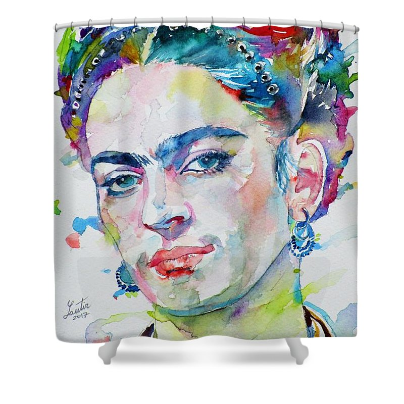 Frida Kahlo Shower Curtain Featuring The Painting