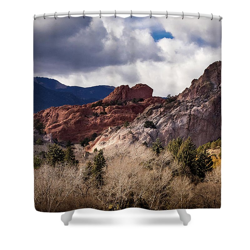 Colorado Springs Shower Curtain featuring the photograph Garden Of The Gods by Jennifer Mitchell