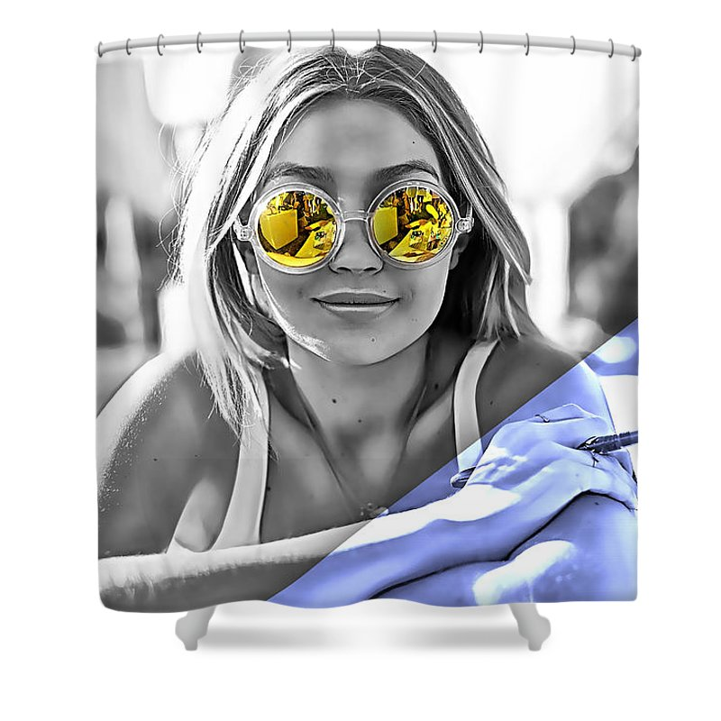 Gigi Hadid Shower Curtains | Fine Art America