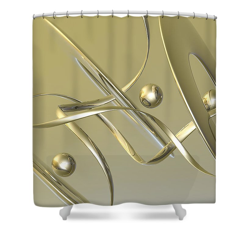 Scott Piers Shower Curtain featuring the painting Gold by Scott Piers