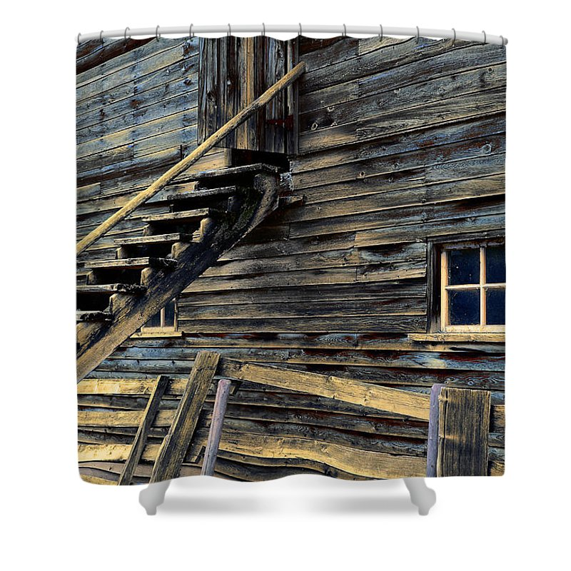 Architecture Shower Curtain featuring the photograph Golden Barn by Wayne Sherriff