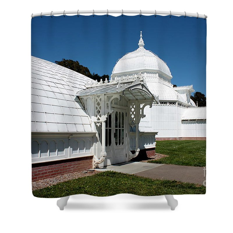 Victorian Shower Curtain featuring the photograph Golden Gate Conservatory by Carol Groenen