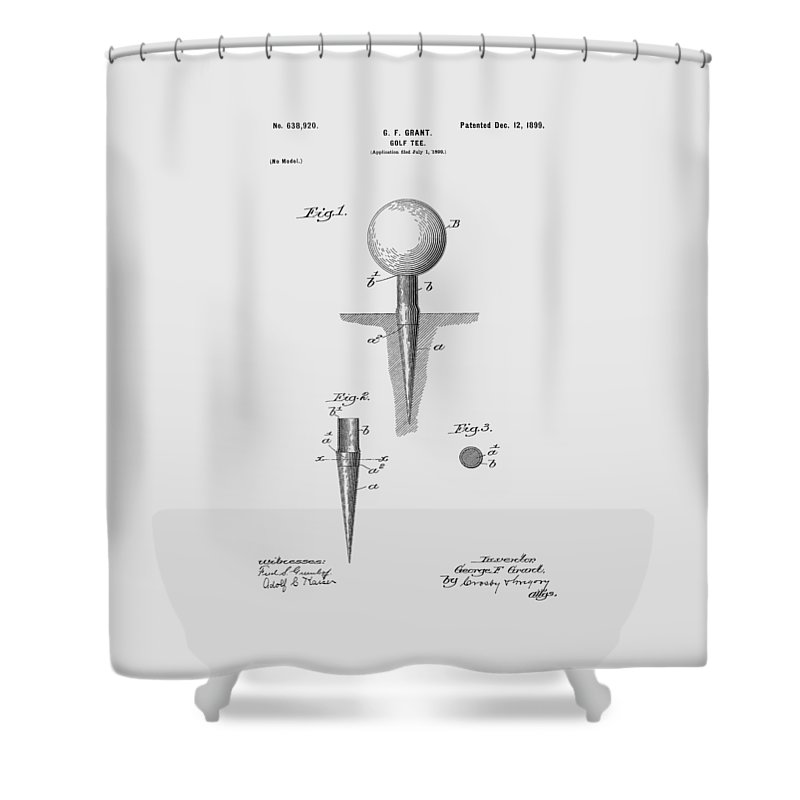 Golf Shower Curtain featuring the photograph Golf Tee Patent 1899 by Chris Smith