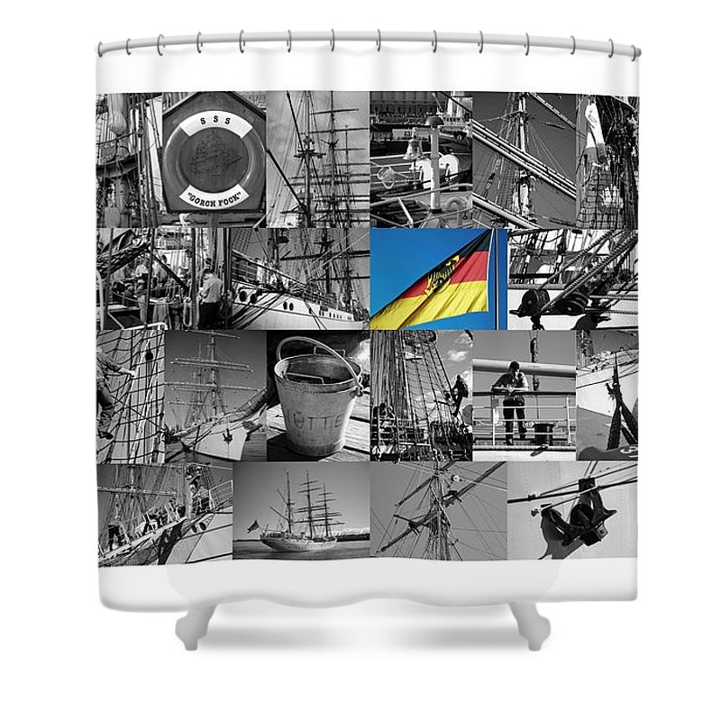 Gorch Fock Shower Curtain featuring the photograph Gorch Fock 1958 by Juergen Weiss