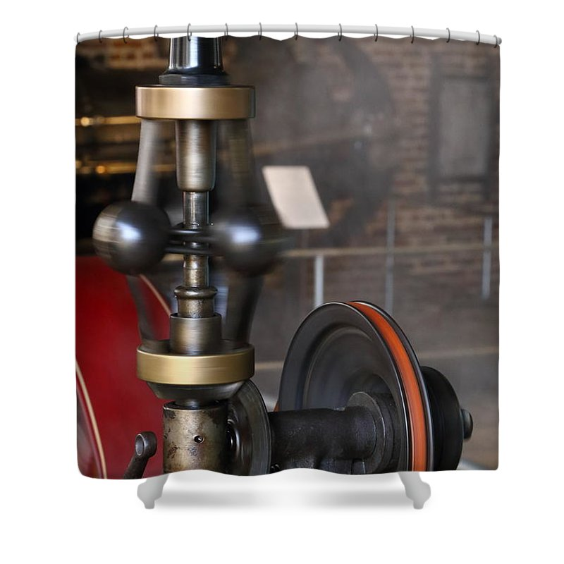 Steam Governor Shower Curtain featuring the photograph Governor by Pat Williams