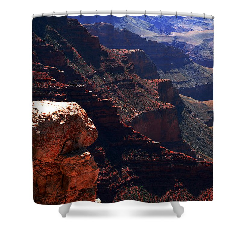 Grand Canyion Shower Curtain featuring the photograph Grand Canyon View by Susanne Van Hulst