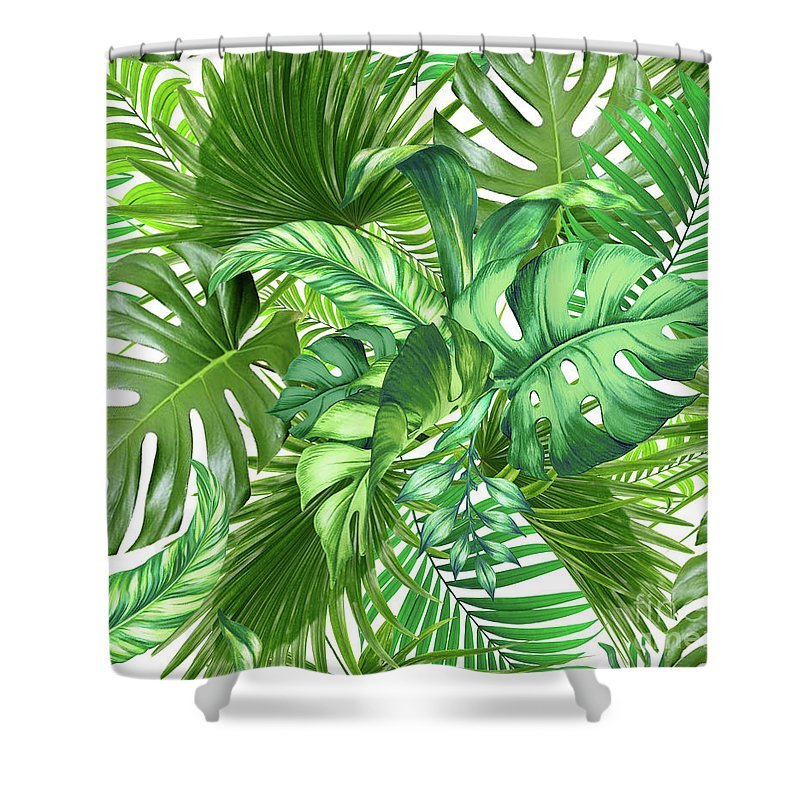 Summer Shower Curtain featuring the photograph Green Tropic by Mark Ashkenazi