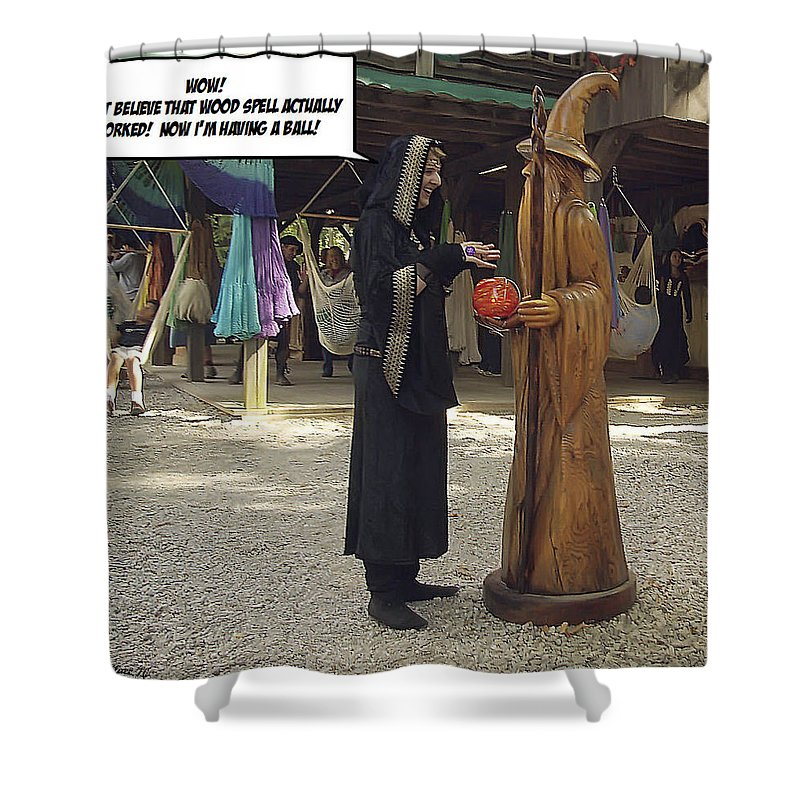 2d Shower Curtain featuring the photograph Having A Ball by Brian Wallace