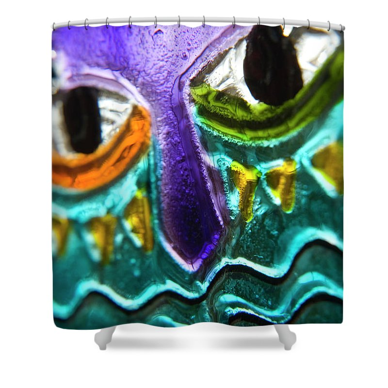 Glass Shower Curtain featuring the photograph Here's Looking At You by Jerry McElroy