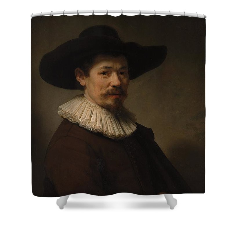 Rembrandt Herman Doomer Born About 1595 Died 1650 Shower Curtain featuring the painting Herman Doomer Born About 1595 Died 1650 by Rembrandt