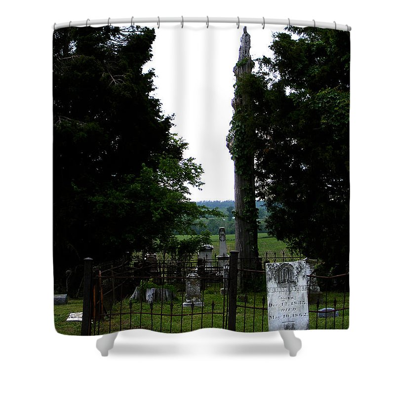Landscape Shower Curtain featuring the photograph Heroes of Olmsted by William Russell Nowicki