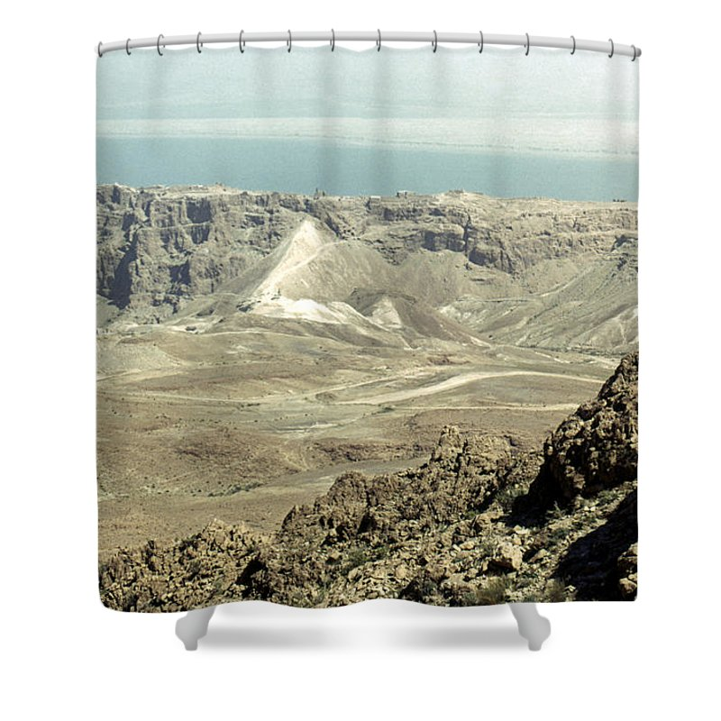 20th Century Shower Curtain featuring the photograph Holy Land: Masada by Granger