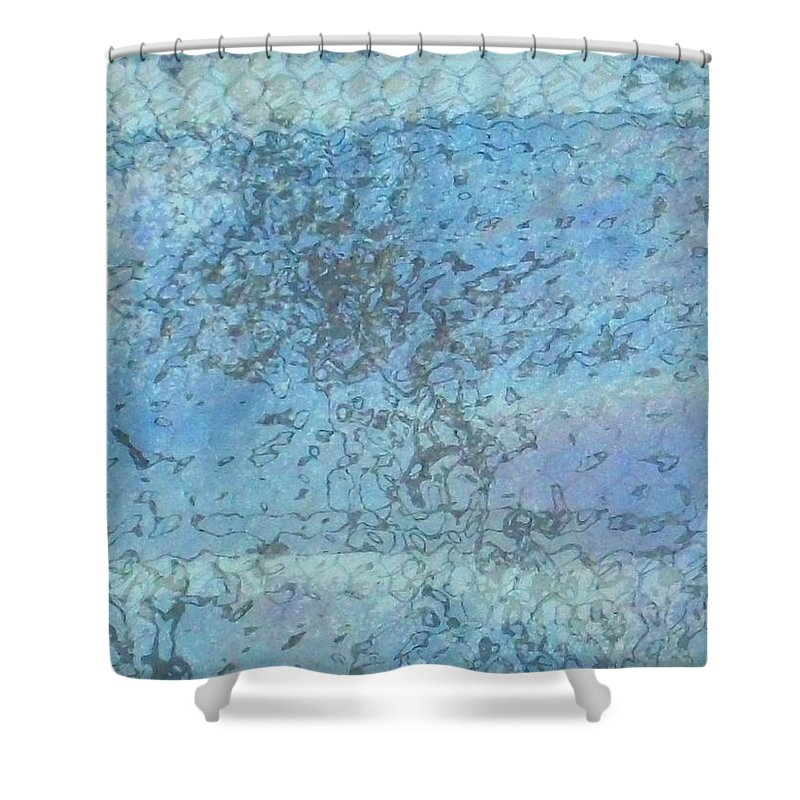 Akers Shower Curtain featuring the photograph Honeycomb Glass by Edmund Akers