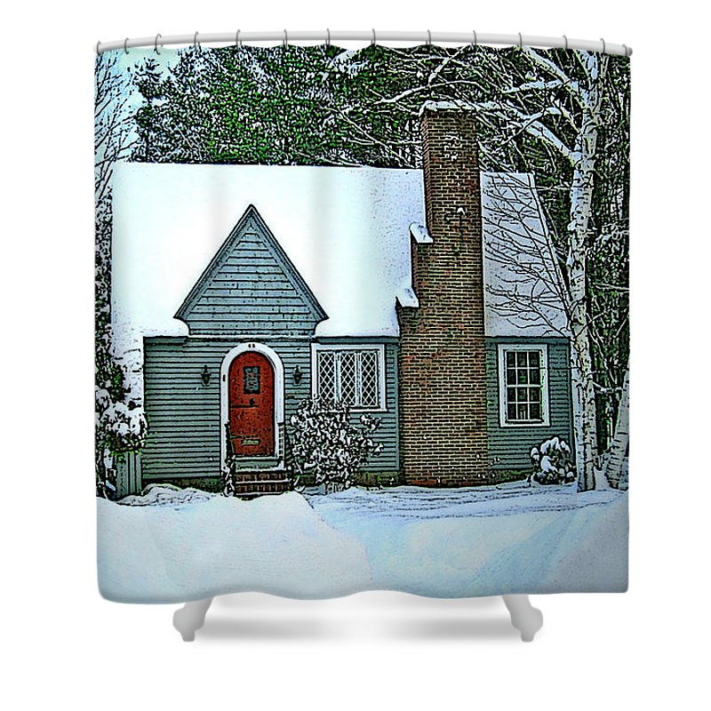 Shower Curtain featuring the photograph Howland House In Windsor by Nancy Griswold