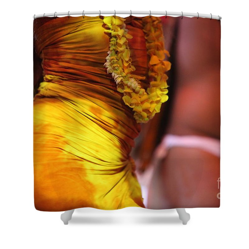 Dance Shower Curtain featuring the photograph Hula Dancers by Nadine Rippelmeyer