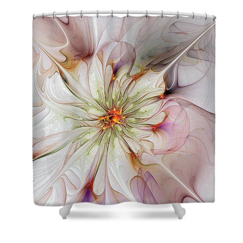 Digital Art Shower Curtain featuring the digital art In Full Bloom by Amanda Moore