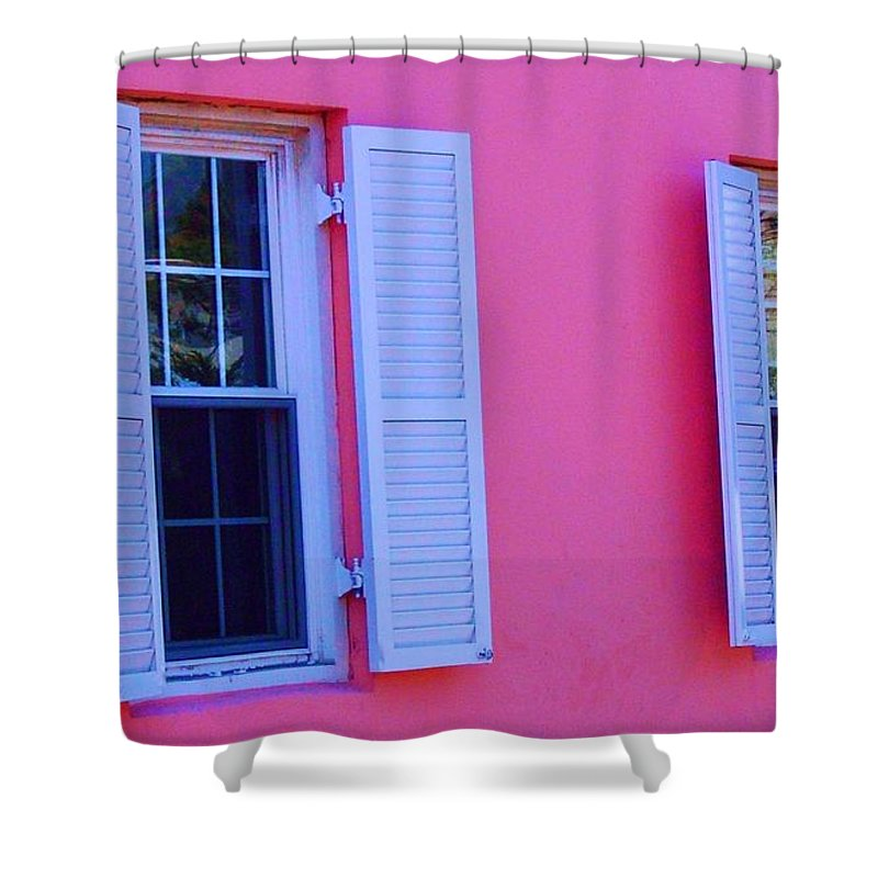 Shutters Shower Curtain featuring the photograph In The Pink by Debbi Granruth