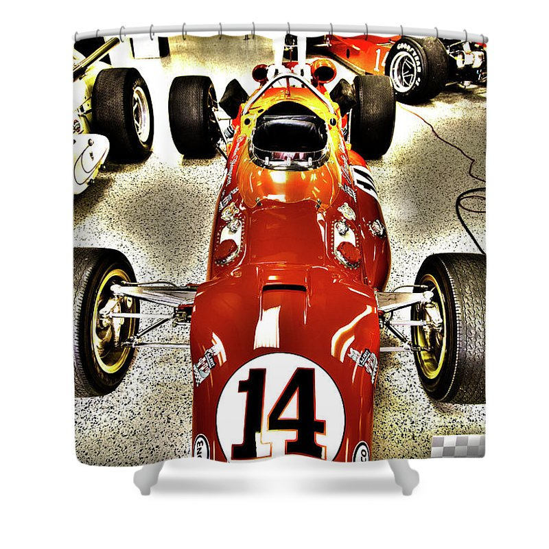 Indy Shower Curtain Featuring The Photograph Race Car Museum By ELITE IMAGE Photography Chad