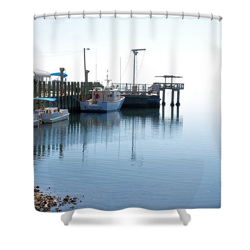 Seascapes Shower Curtain featuring the photograph Infinity by Jan Amiss Photography