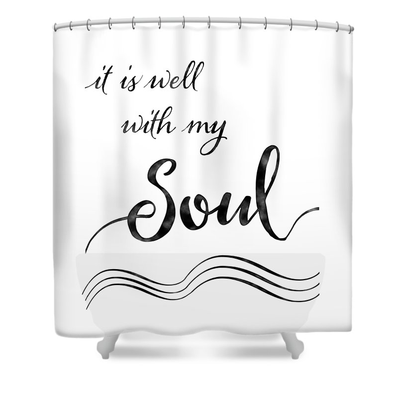 Inspire Shower Curtain Featuring The Painting Inspirational Typography Script Calligraphy