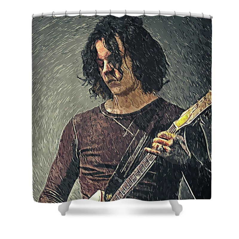 Jack White Shower Curtain featuring the digital art Jack White by Zapista OU