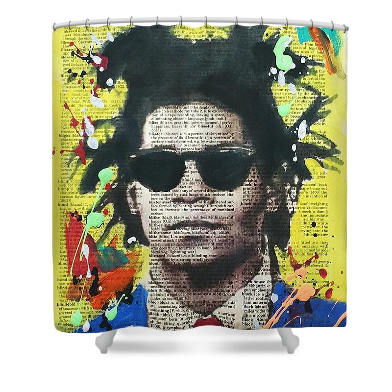Jean Michel Basquiat Shower Curtain Featuring The Painting By Venus