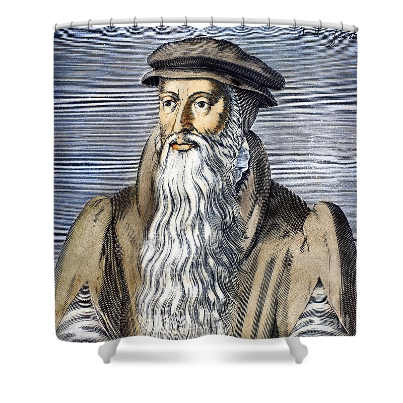 16th Century Shower Curtain featuring the photograph John Knox (1505-1572) by Granger