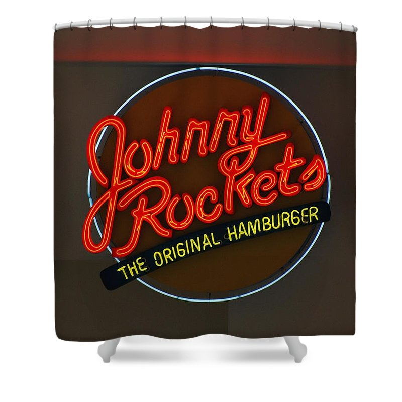 Macro Shower Curtain featuring the photograph Johnny Rockets by Rob Hans