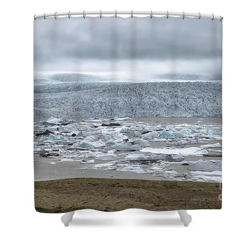 Glacial River Lagoon Shower Curtain featuring the photograph Jokulsarlon, Iceland by Ivan Batinic