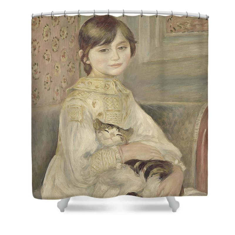 Auguste Renoir Shower Curtain featuring the painting Julie Manet by Auguste Renoir