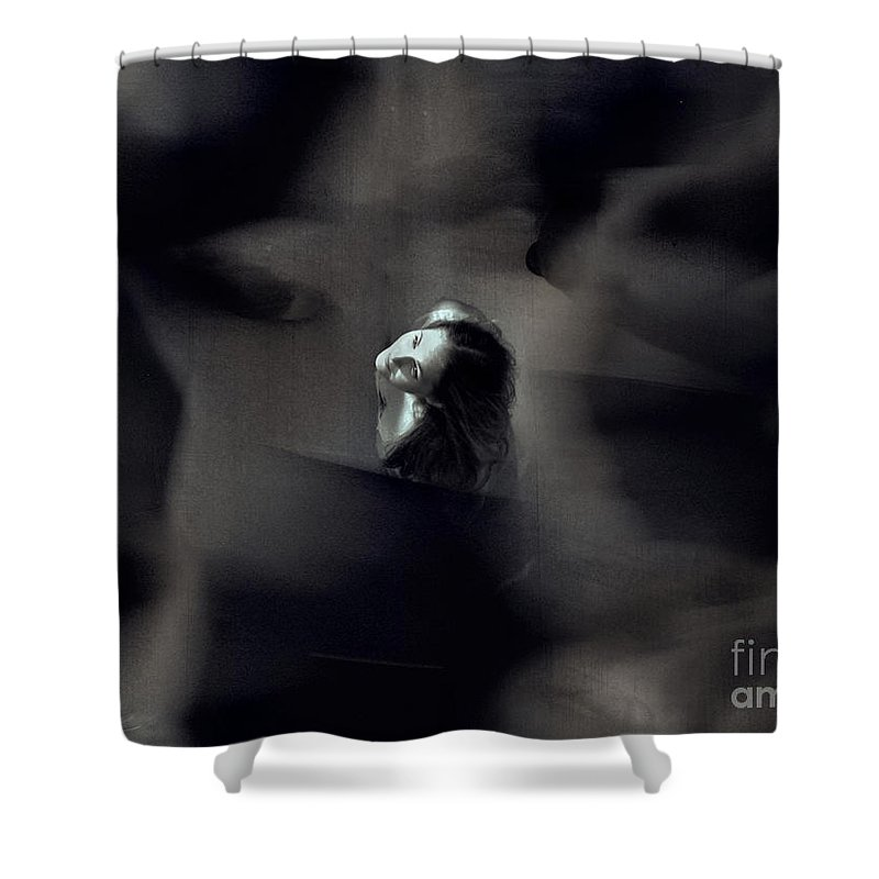 Street Shower Curtain featuring the photograph Just For Today I Will Not Be Afraid by Dana DiPasquale
