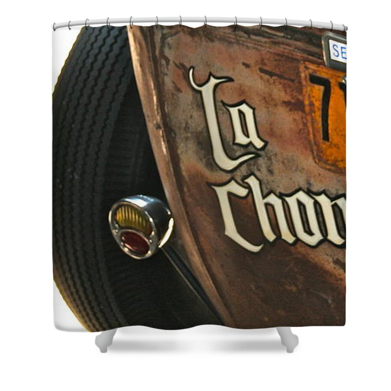 Photograph Shower Curtain featuring the photograph La Chona by Gwyn Newcombe