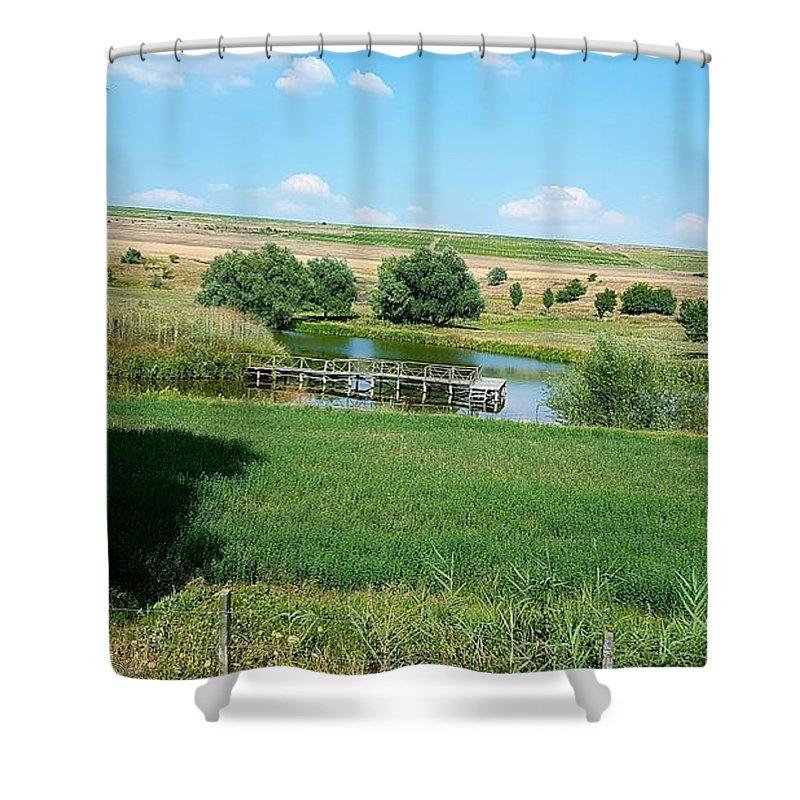 Lake Shower Curtain featuring the photograph Lake by Mihai Bardan