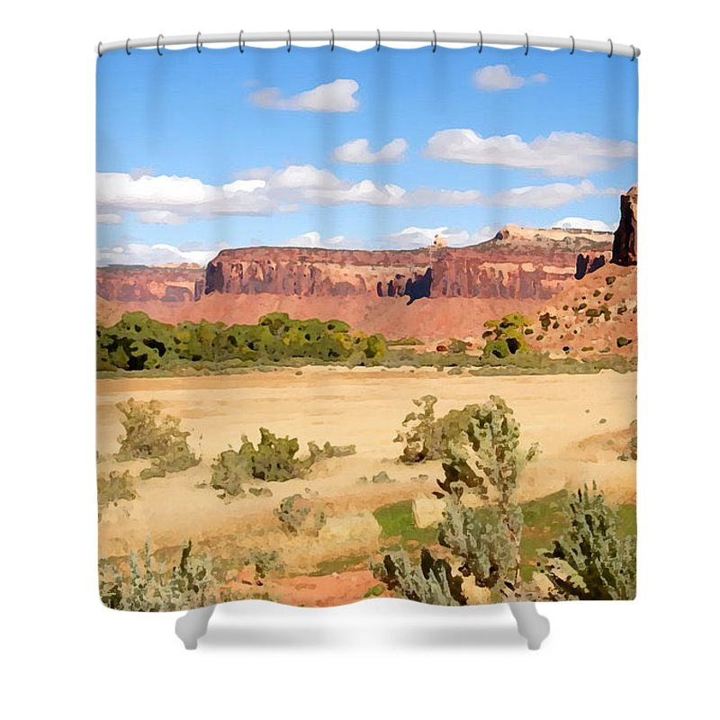 Canyon Lands Shower Curtain featuring the photograph Land Of Canyons by David Lee Thompson