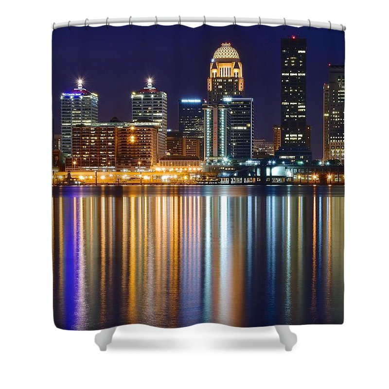 Kentucky Shower Curtain featuring the photograph Lavender Louisville by Frozen in Time Fine Art Photography