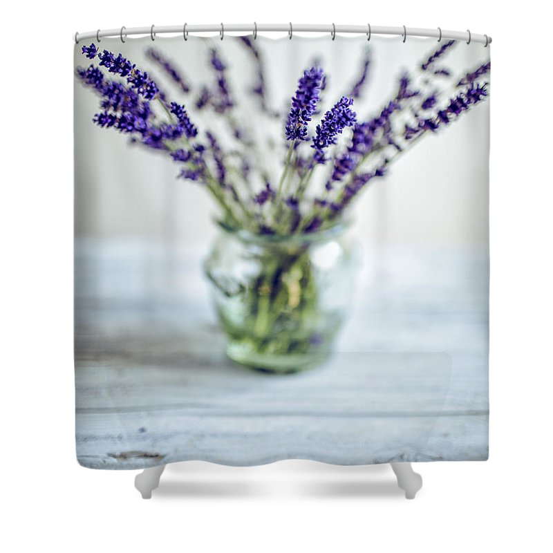Lavender Shower Curtain featuring the photograph Lavender Still Life by Nailia Schwarz
