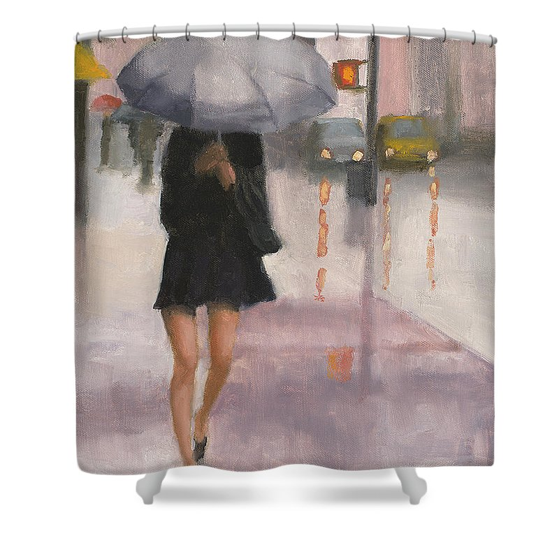 Legs Shower Curtain featuring the painting Legs by Tate Hamilton