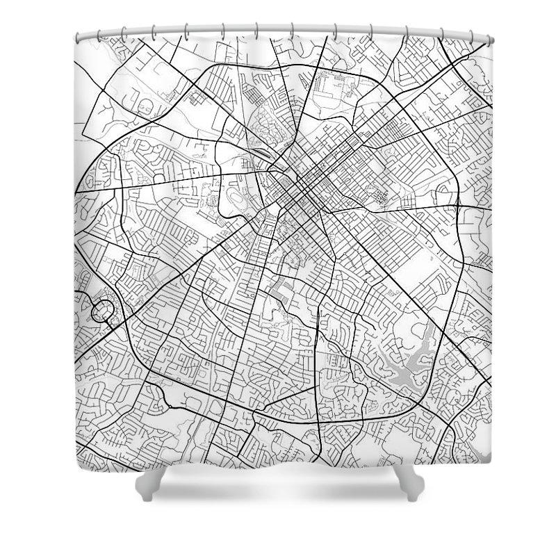 Road Map Shower Curtain featuring the photograph Lexington Kentucky Usa Light Map by Jurq Studio