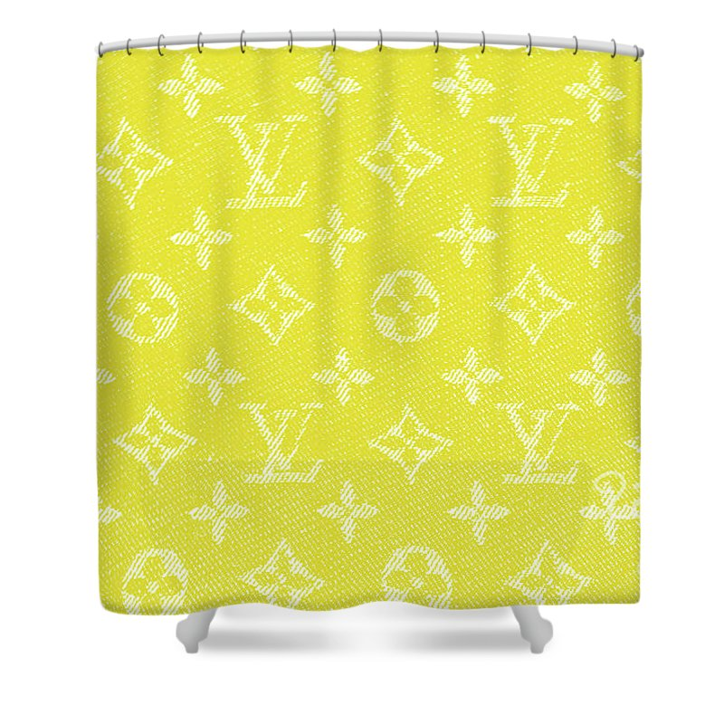 Louis Vuitton In Yellow Monogram Shower Curtain For Sale By To Tam Gerwe