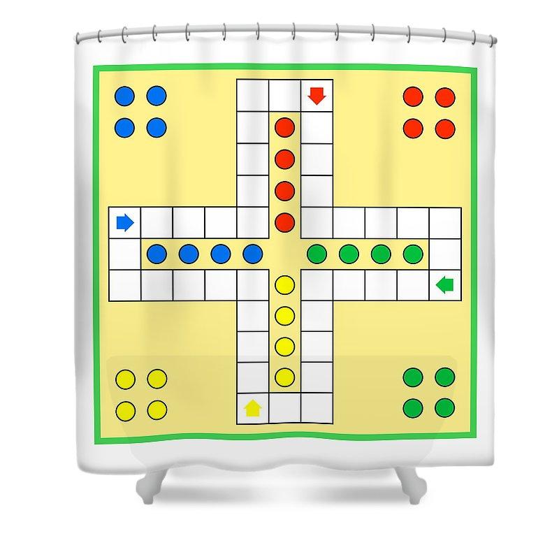 Ludo Board Game Shower Curtain