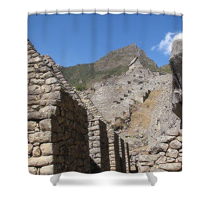 Landscape Shower Curtain featuring the photograph Macchu Picchu 9 by Sandra Bourret