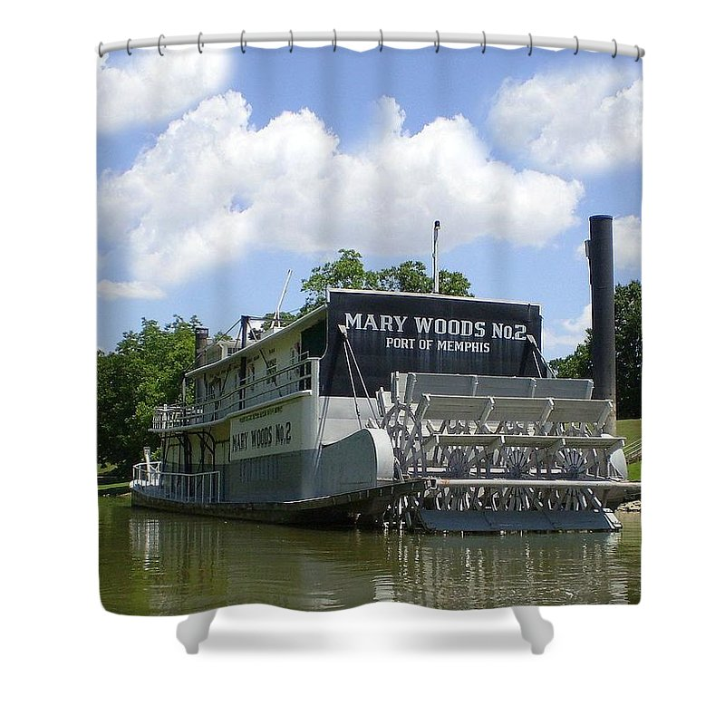 Historic Shower Curtain featuring the photograph Mary Woods No.2 by Delana Epperson