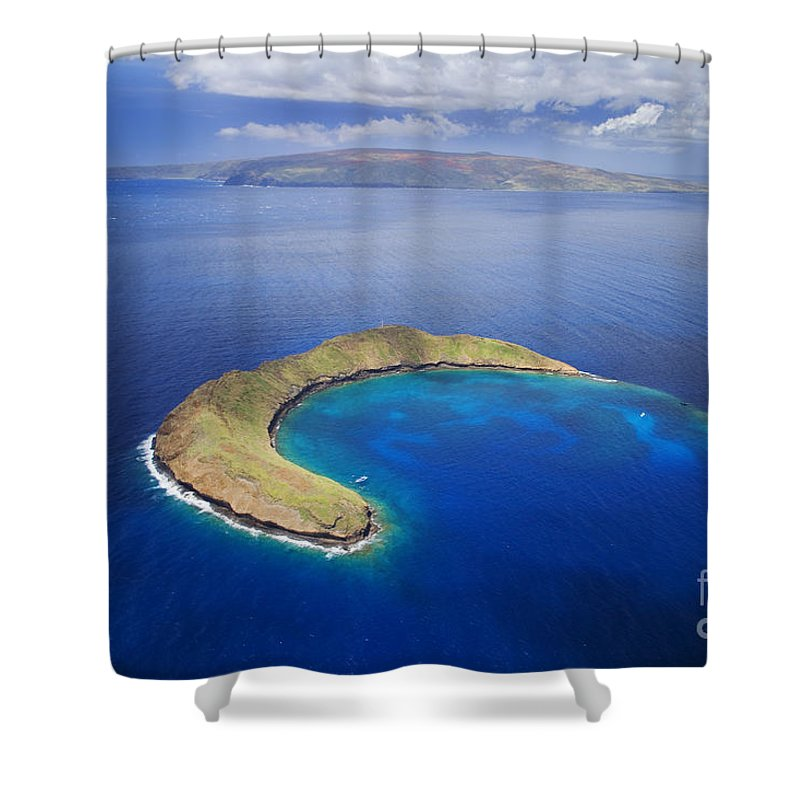 Above Shower Curtain featuring the photograph Maui, View Of Islands by Ron Dahlquist - Printscapes