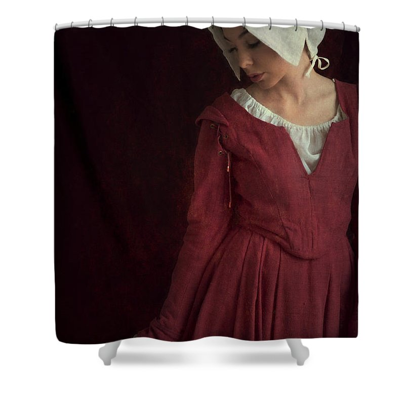 Medieval Shower Curtain featuring the photograph Medieval Maid Servant by Lee Avison