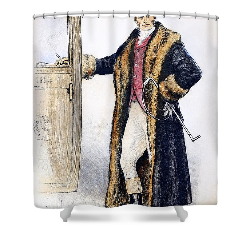 1894 Shower Curtain featuring the photograph Mens Fashion, 1894 by Granger