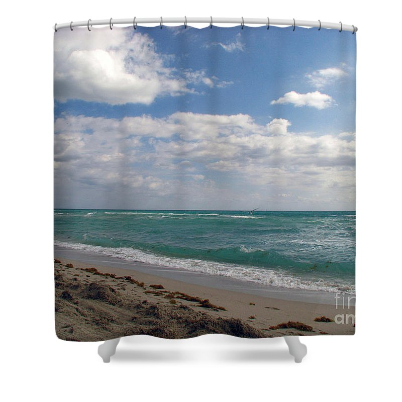 Miami Beach Shower Curtain featuring the photograph Miami Beach by Amanda Barcon